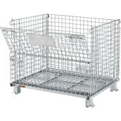 "Relius Solutions Collapsible Wire Containers - 40""Wx32""Lx33-1/2""H - 2X2"" Mesh - Container"