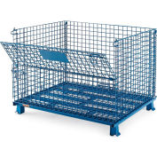 "Relius Solutions Collapsible Wire Containers With Powder Coat Finish - 48""Wx40""Lx35""H - Blue"