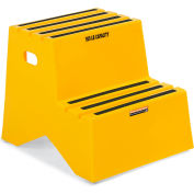 "Relius Solutions Polyethylene Stepping Stand - Two Step - 20"" Top Step Height - Yellow"