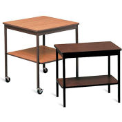 "Barricks Economical Work Table with Plastic Glides - 30x18"" Walnut"