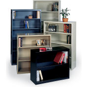 "Edsal Welded Bookcases - 36 x 13 x 52-1/2"" Black"