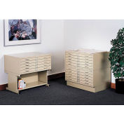 "Safco 5-Drawer Steel Flat File - 46-1/2 X35-1/2 X16-1/2"" - Baby Wheat"