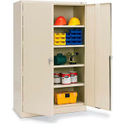 "Tennsco 48""W Jumbo Storage Cabinet - 48X24X78"" - All-Welded - Putty"