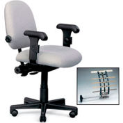 "Phoenix Adjustable Lumbar Support Task Chair - 16-21"" Seat Height"