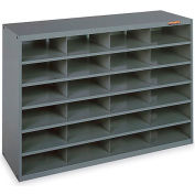 "Relius Solutions All-Steel Organizer - 36-1/2X12X24-1/2"" - 24 Compartments Gray"