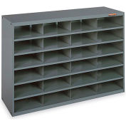 """Relius Solutions All-Steel Organizer - 36X15X36"""" - 36 Compartments Gray"""