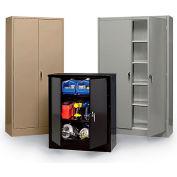 "Edsal Storage Cabinet - 36X24X78"" - Set-Up - Tan"