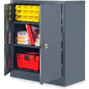"Edsal Economical Storage Cabinet: Unassembled - 36X18X42"" - Gray"