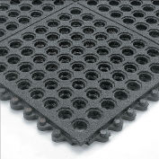 Wearwell 24/Seven Anti-Fatigue Mat Cutting Fluid Resistant Rubber Drainage Tile Non-Slip Coat  3X3'