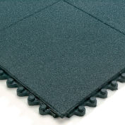 Wearwell 24/Seven Anti-Fatigue Mat Cutting Fluid Resistant Rubber Solid Tile Non-Slip Coating - 3X3'