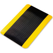 Wearwell Ultrasoft Diamond-Plate Anti-Fatigue And Safety Mat - 3X5' - Black/Yellow Border