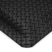 Wearwell Ultrasoft Diamond-Plate Anti-Fatigue And Safety Mat - 3X5' - Black