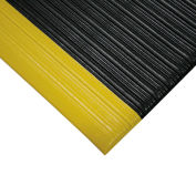 "Relius Solutions Anti-Fatigue Vinyl Mat- 3'W - 3/8"" Thick - 60' Rolls - Black/Yellow Border"
