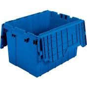 "Akro-Mils Attached Lid Totes - 21-1/2 X15X12-1/2"" - Blue - Pkg Qty 6"