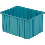 "LewisBins Modular Divider Box - 22-3/8 X17-3/8 X12"" - Blue - Pkg Qty 3"