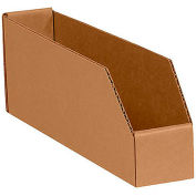 "Corrugated Fiberboard Shelf Bins - For 18""D Shelves - Pkg Qty 25"