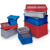 "Quantum Dividable Grid Container - 16-1/2 X10-7/8 X6"" - Red - Pkg Qty 8"