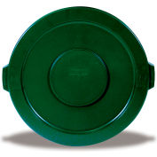 Rubbermaid Brute Flat Lid For 32-Gallon Round Containers - Green