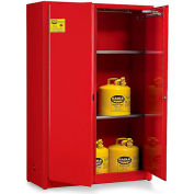 Eagle Double-Wall Flammable Liquids Safety Cabinets - 31X31X65 - 60-Gal. Capacity Self Closing Doors
