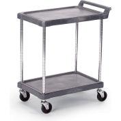"Economical Polymer Utility Carts - 28""Wx17""D Shelf - 2 Shelves"