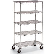 "Metro qwikSLOT Wire Shelf Trucks - 36"" Wx24"" D Shelf"