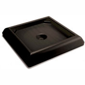 Rubbermaid Weighted Base For Ranger Receptacles - Fits 45-Gallon Receptacles - Black