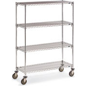 "Metro Super Adjustable Super Erecta Wire Shelf Trucks - 60"" Wx24"" D Shelf - 68"" H"