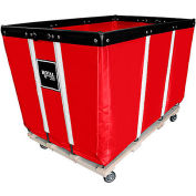 """Relius Solutions Heavy-Duty Basket Trucks By Royal - Vinyl Liner - 34""""Wx54""""Dx36""""H 4 Swivel Casters"""