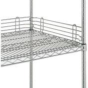 "Metro 4""H Side & Back Shelf Ledge for Open Wire Shelving - 48"""