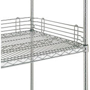 "4""H Shelf Back Ledge For Open Wire Shelving - 72"""