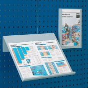 "Bott Toolboard Shelf For Perfo Panels - Angled Document Holder - 18""Wx14""D (Double Letter Size)"