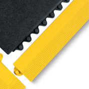 "Wearwell 3X39"" Edging For 24/Seven Mats - Cutting Fluid Resistant Rubber - Female Edge - Yellow"