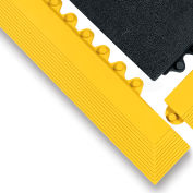 "Wearwell 3X39"" Edging For 24/Seven Mats - Cutting Fluid Resistant Rubber - Male Edge - Yellow"