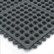Wearwell 24/Seven Anti-Fatigue Mat Nitrile Rubber  Drainage Tile Gritworks Non-Slip Coating - 3X3'