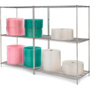 """Relius Solutions Wire Shelving With Chrome Finish 60"""" X 36"""" X 86"""""""