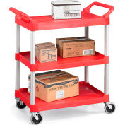 "Rubbermaid Xtra Carts With Aluminum Uprights - 33-5/8""Wx18-3/8""D Shelf - Red"