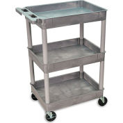 "Luxor H. Wilson Tray-Shelf Carts - 24""Wx18""D Shelf - 40-1/2""H"
