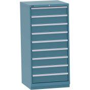 "Lista Standard-Width Drawer Cabinet - 28-1/4 X28-1/2 X59-1/2"" - 9 Drawers - Classic Blue"
