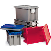 "Quantum Stack And Nest Tote Box - 29-1/2 X19-1/2 X15"" - Gray - Pkg Qty 3"