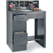 """Relius Solutions Deluxe Pedestal Shop Desk With 4 Drawers - 39X28-3/4X55-1/2"""""""