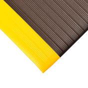 "Relius Solutions Anti-Fatigue Vinyl Mat - 3x5' - 3/8"" Thick - Black/yellow border"