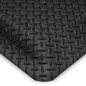 "Wearwell Diamond-Plate Spongecote Mat 415.916X3X5BK - 36X60"" - Black"