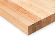 "120""W x 36""D x 1-3/4"" Thick Relius Solutions Maple Butcher Block Square Edge Workbench Top"