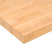 "60""W x 30""D x 1-1/2"" Thick Relius Solutions Maple Butcher Block Comfort Edge Maple Workbench Top"