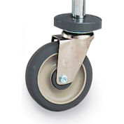 Metro Casters for Wire Shelving - Polyurethane - Rigid with Bumper
