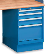 """Lista 4-Drawer Pedestal - 2-7/8"""", 3-7/8"""", 4-7/8"""", 11-1/2"""" Front Drawer Heights - Without Partitions"""