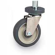 """Metro 5"""" Casters for Super Erecta Shelving - 5"""" Polyurethane Swivel Caster with Brake and Bumper"""
