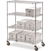 "Metro Super Erecta Shelf Trucks with Wire Shelves - 72"" Wx24"" D Shelf - 68"" H"