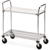 "Metro Galvanized/Wire Carts - 36""W x 24""D Shelf"