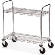 """Metro Two-Shelf Wire Carts - 36"""" Wx18"""" D Shelf"""
